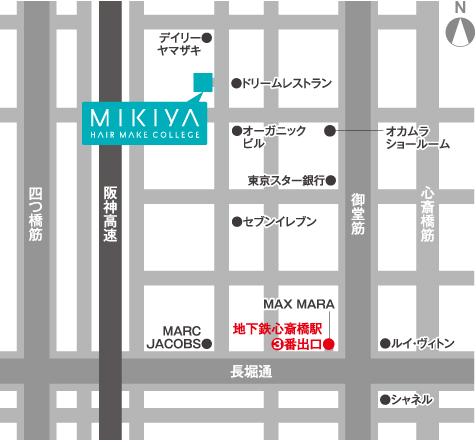MIKIYAアクセスマップ
